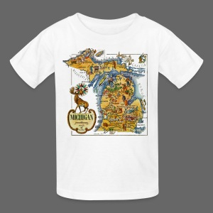 1946 Michigan Map - Kids' T-Shirt