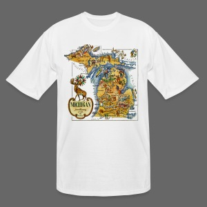 1946 Michigan Map - Men's Tall T-Shirt