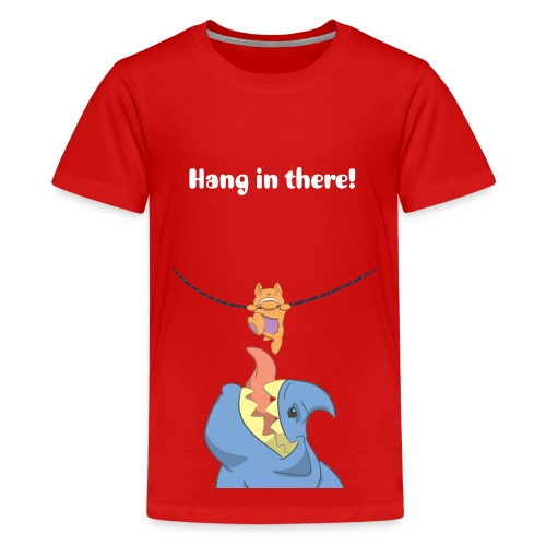 Kid's T-shirt with Hang in There design  - Kids' Premium T-Shirt