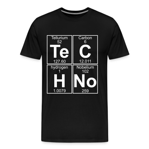 Te-C-H-No (techno) - Men's Premium T-Shirt