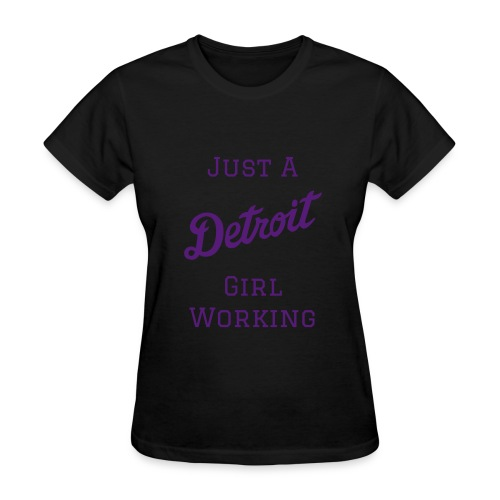 Detroit Girl Working - Women - Black/Purple - Women's T-Shirt