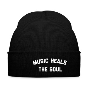 Music Heals The Soul™ - Beanie - Knit Cap with Cuff Print