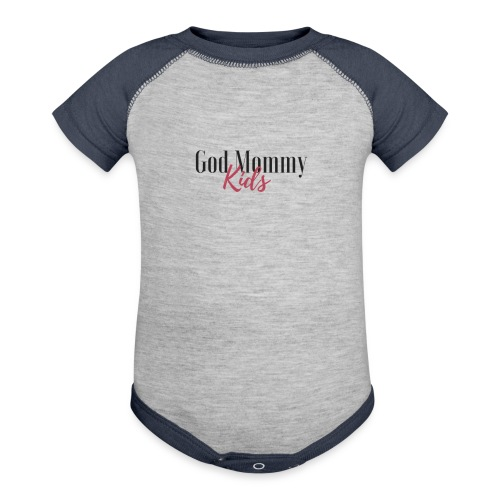 God mommy and kids - Contrast Baby Bodysuit