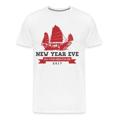 new year eve in Hongkong - Men's Premium T-Shirt