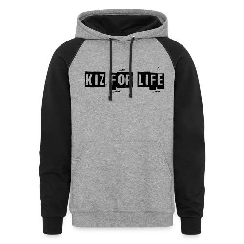 Kiz For Life Men's Hoodie - Colorblock Hoodie