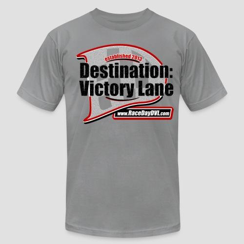 Retro D Logo Slate T-Shirt - Men's Fine Jersey T-Shirt