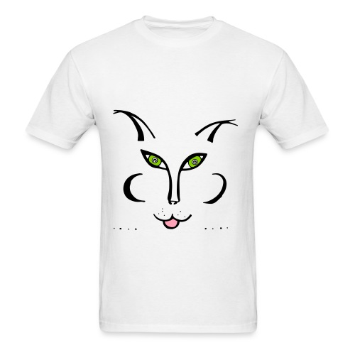 Love and a cat illustrated tshirt - Men's T-Shirt