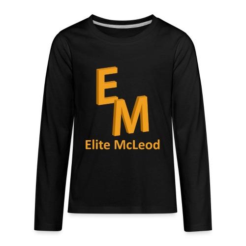 Elite McLeod Long Sleeve Kids Black - Kids' Premium Long Sleeve T-Shirt