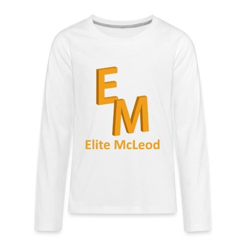 Elite McLeod Long Sleeve Kids White - Kids' Premium Long Sleeve T-Shirt
