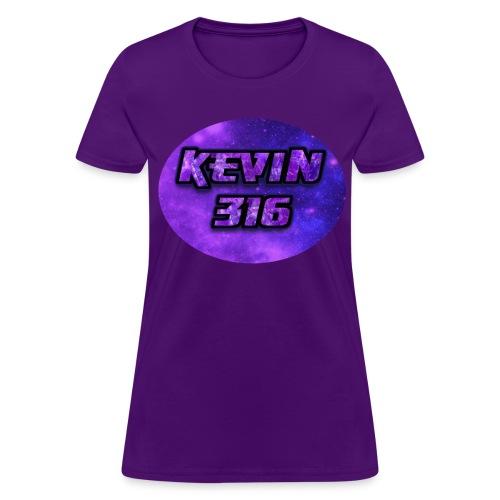 Kevin316 Women's Purple Galaxy T-Shirt - Women's T-Shirt