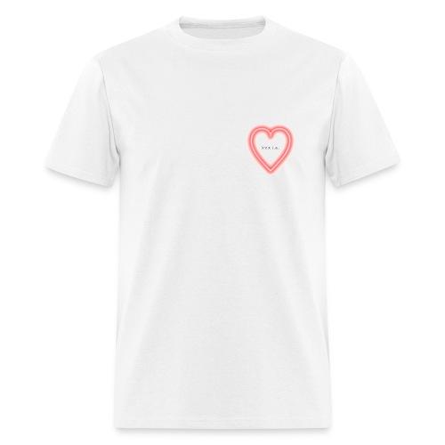 xxx l.a. neon heart shirt - Men's T-Shirt