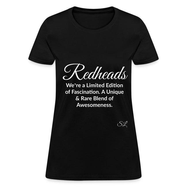 Redhead Quotes T Shirts By Stephanie Lahart Redhead Womens T