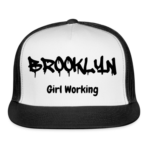 Brooklyn Girl Working Trucker Hat - Black/White - Trucker Cap