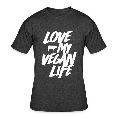 LOVE MY VEGAN LIFE - Men's 50/50 T-Shirt