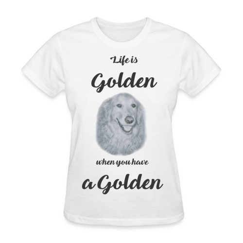Golden Retriever Rescue black and white - Women's T-Shirt