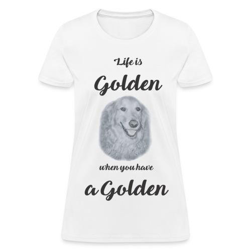 Golden Retriever Rescue black and white - Women's T-Shirt