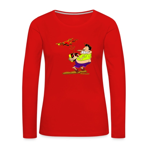 GrisDismation's Ongher Droning Out-Ongher flying-G - Women's Premium Long Sleeve T-Shirt