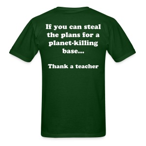 Thank a teacher dark - Men's T-Shirt