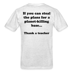 Thank a teacher light - Men's T-Shirt