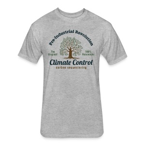 Pre-Industrial Revolution Climate Control - Fitted Cotton/Poly T-Shirt by Next Level