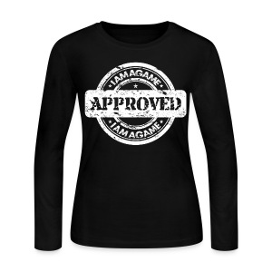 IAmAGame 'Approved' Lady Long Sleeve - Women's Long Sleeve Jersey T-Shirt