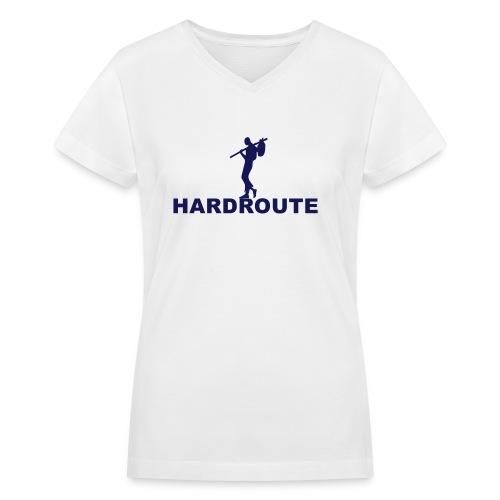 Hardroute Women's Glam Logo V-neck T shirt - Women's V-Neck T-Shirt
