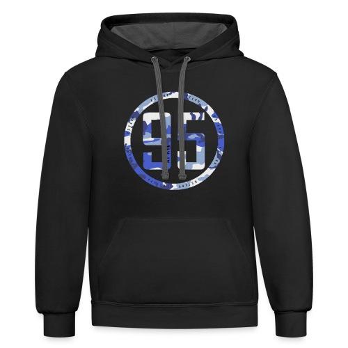 95 hoodie black - Contrast Hoodie