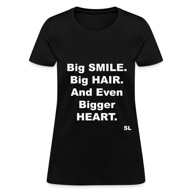 Big SMILE. Big HAIR. Big HEART. Natural, Curly, Kinky Hair T-shirt Clothing by Stephanie Lahart