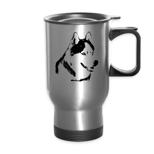 Husky Cups Siberian Husky Sled Dog Team Cups Mugs - Travel Mug