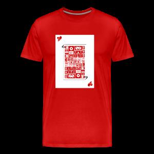 Card of Heart - Men's Premium T-Shirt