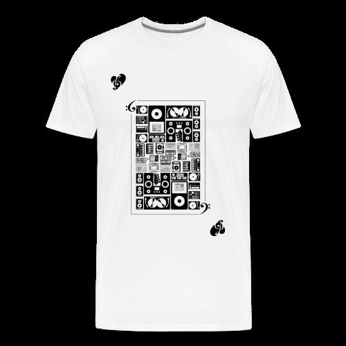 Card of Heart Large - Men's Premium T-Shirt