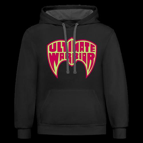 Ultimate Warrior Retro Logo Contrast Hoodie - Contrast Hoodie