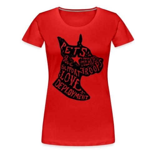 Dogs on Deployment Women's Tee - Women's Premium T-Shirt