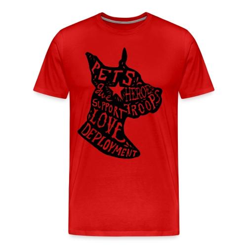 Dogs on Deployment Men's Tee - Men's Premium T-Shirt
