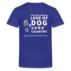 Dogs on Deployment Motto Kid's Tee - Kids' Premium T-Shirt