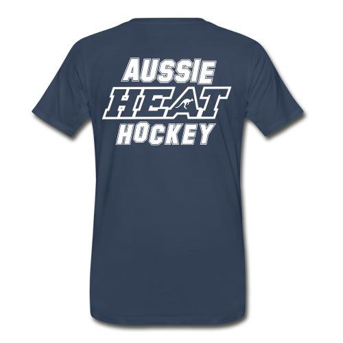 Aussie Heat- MensFirehouse Tee NAVY - Men's Premium T-Shirt