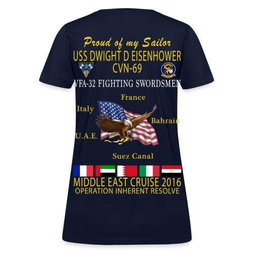 IKE AIRWING - VFA-32 FIGHTING SWORDSMEN 2016 CRUISE SHIRT - FAMILY - WOMEN'S - Women's T-Shirt