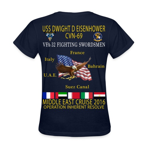 IKE AIRWING - VFA-32 FIGHTING SWORDSMEN 2016 CRUISE SHIRT - WOMEN'S - Women's T-Shirt