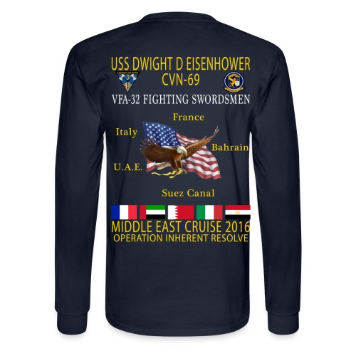 IKE AIRWING - VFA-32 FIGHTING SWORDSMEN 2016 CRUISE SHIRT - LONG SLEEVE - Men's Long Sleeve T-Shirt
