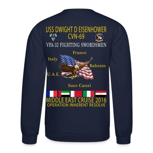 IKE AIRWING - VFA-32 FIGHTING SWORDSMEN 2016 CRUISE SWEATSHIRT - Crewneck Sweatshirt