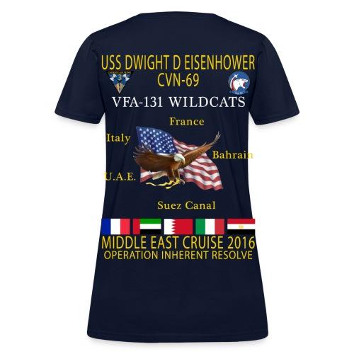 IKE AIRWING - VFA-131 WILDCATS 2016 CRUISE SHIRT - WOMEN'S - Women's T-Shirt