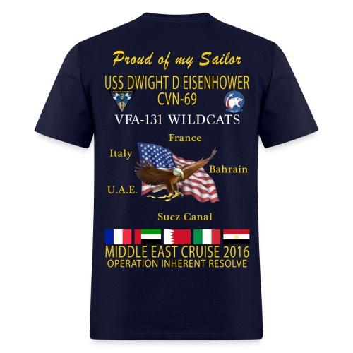 IKE AIRWING - VFA-131 WILDCATS 2016 CRUISE SHIRT - FAMILY - Men's T-Shirt