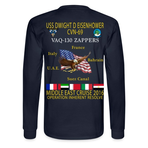 IKE AIRWING - VAQ-130 ZAPPERS 2016 CRUISE SHIRT - LONG SLEEVE - Men's Long Sleeve T-Shirt