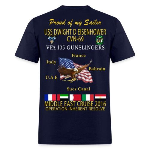 IKE AIRWING - VFA-105 GUNSLINGERS 2016 CRUISE SHIRT - FAMILY - Men's T-Shirt