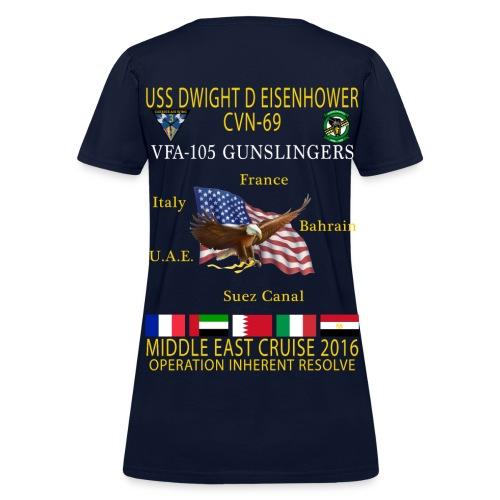 IKE AIRWING - VFA-105 GUNSLINGERS 2016 CRUISE SHIRT - WOMEN'S - Women's T-Shirt