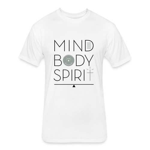 Mind. Body. Spirit. with SO logo - Fitted Cotton/Poly T-Shirt by Next Level