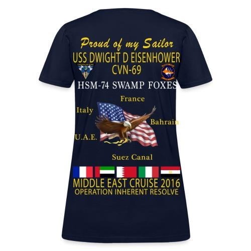 IKE AIRWING - HSM-74 SWAMP FOXES 2016 CRUISE SHIRT - FAMILY - WOMEN'S - Women's T-Shirt