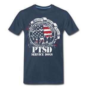 Mens PTSD Service Dogs Tee - Men's Premium T-Shirt