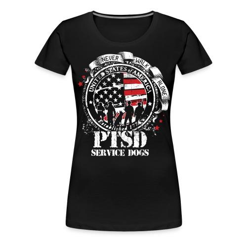 Womens PTSD Service Dogs Tee - Women's Premium T-Shirt