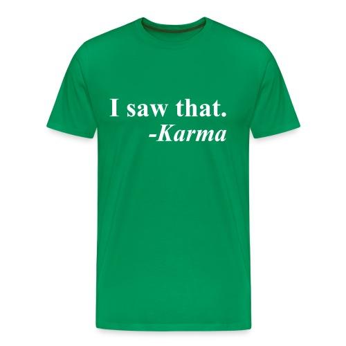 Karma Men's Tee Green - Men's Premium T-Shirt